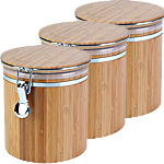 large empty bamboo jar three pack