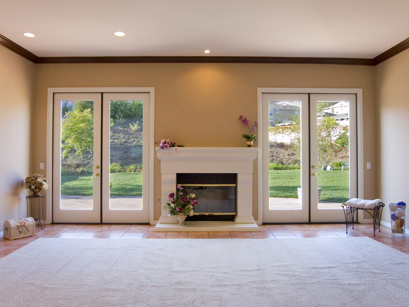 Two Sets Of French Doors The Ample Sized Family Room Also Includes A Fireplace And Entertainment Nitch Lush Well Maintained Landscaping In Front