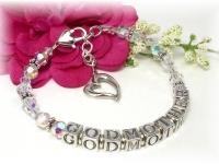 Swarovski crystal and sterling silver Godmother Bracelet