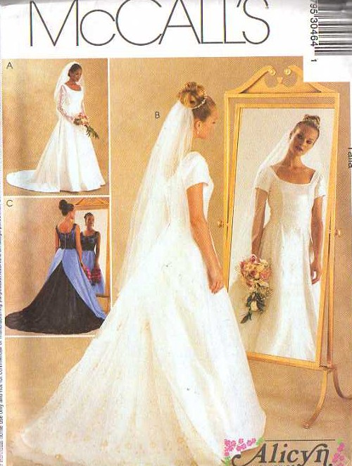 Momspatterns vintage sewing patterns mccall 39 s 3046 for Lace wedding dress patterns to sew