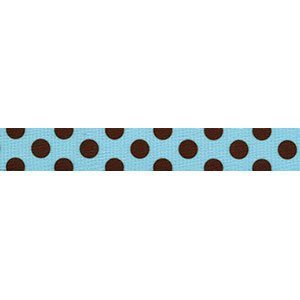 Blue and Brown Polka Dot lead