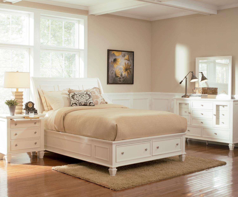 sandy beach white queen platform bed w drawer storage 201309q by coaster beach themed furniture stores