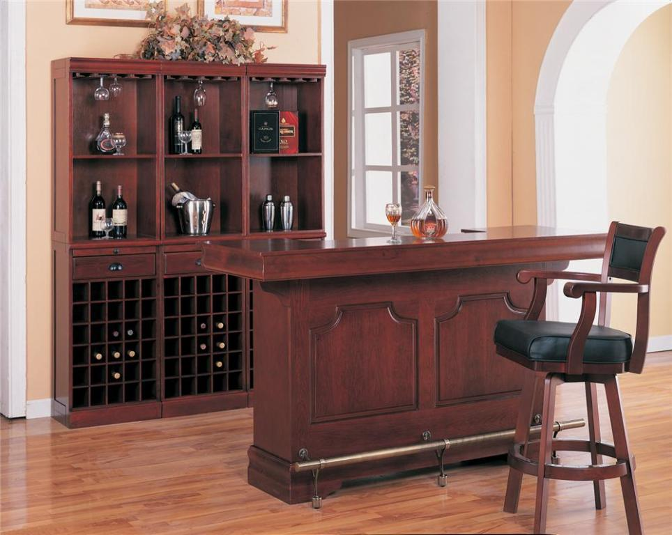 Cherry Finish Bar with Sink