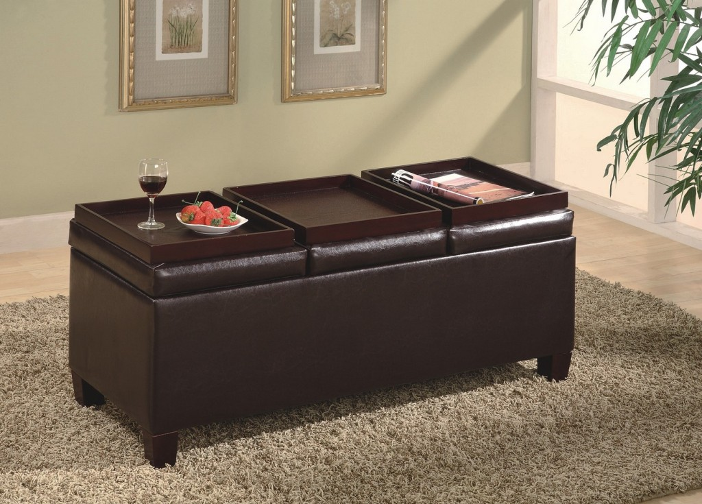- Storage Ottoman With Trays