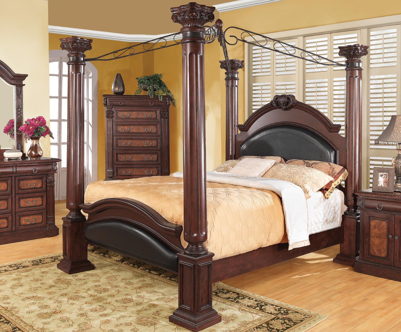 Grand Prado Collection Bedroom Black Bed Coaster Q