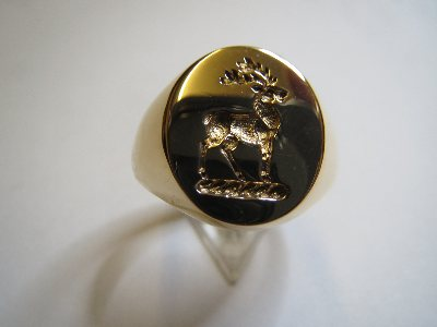 Stag Head Signet Ring